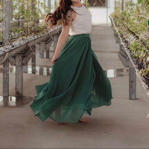 Dresses & Skirts - Chiffon high waist maxi skirt